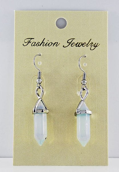 Opalite Gemstone Bi-Point Earrings