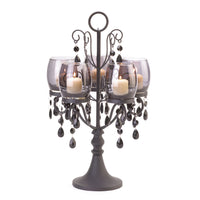 Romantic and Beautiful Midnight Elegance Candelabra - 5 Candle Holder