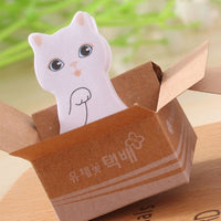 Cute Cat Sticker Bookmark Marker Memo Pad