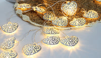 Luxury Fairy String Light Metal Iron Love Hollow