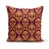 Magenta Orange Skulls Pillow Cover