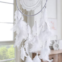 Dream Catcher White Feather Wind Chimes Home