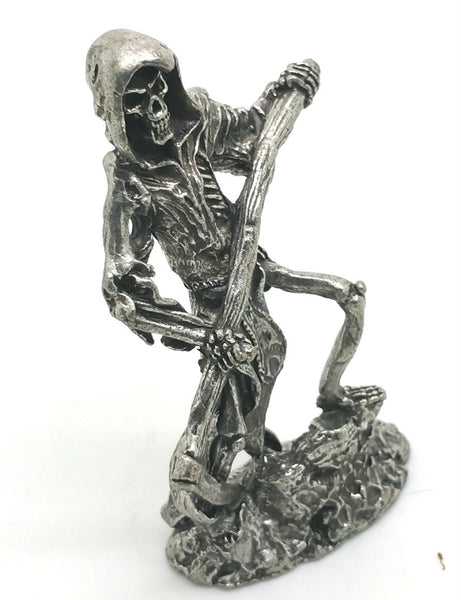 Grim Reaper with Sickle Pewter Figurine - Lead Free