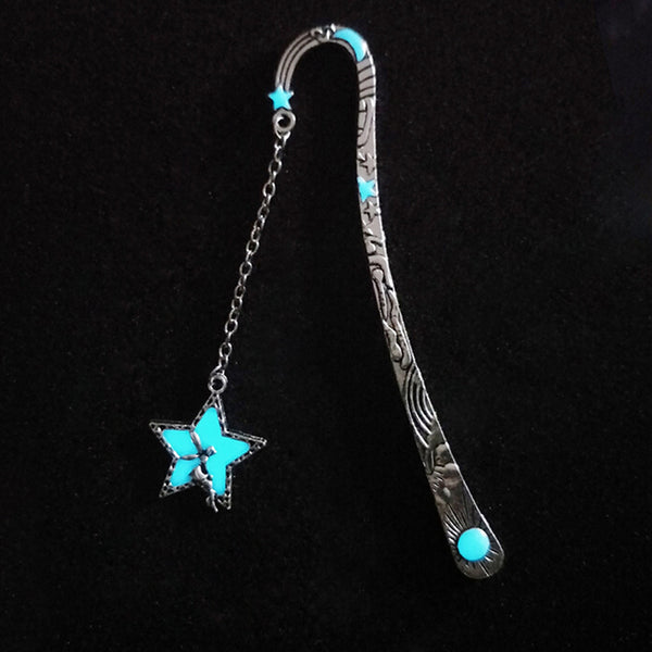 Star or Whale Tail Metal Bookmark - Glow in the Dark