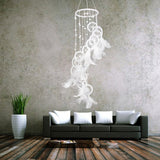 White Dream Catcher Wind Chimes Wheel Feather