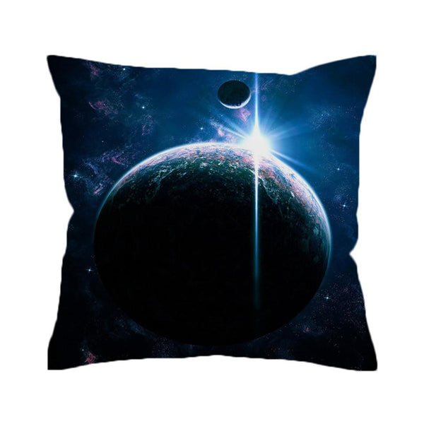 Earth Cushion Cover Galaxy Decorative Pillow Cover