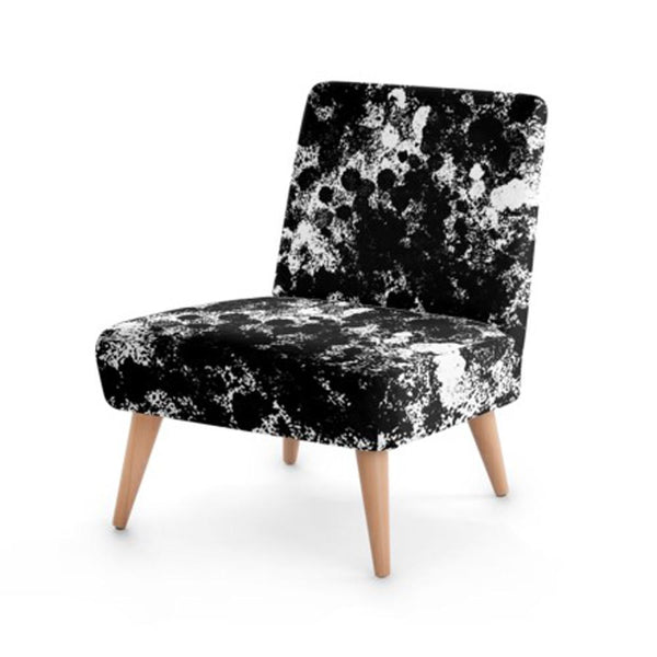Black Monochrome Print Accent Occasional Chair