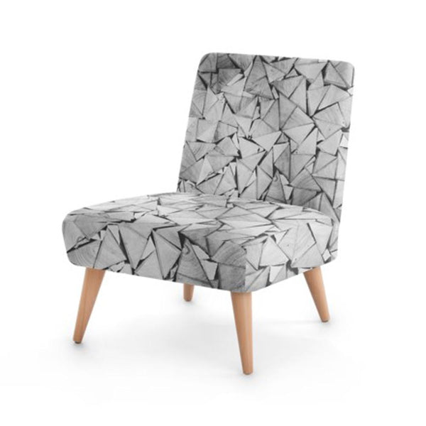Origami Print Accent Occasional Chair