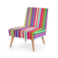 Beach Candy Striped Accent Occasional Chair