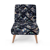 Luxury Jewel Print Accent Occasional Chair
