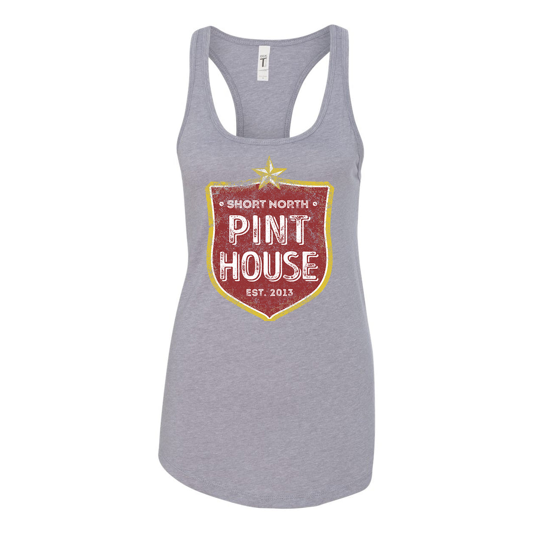 Pint House - Shield - Womens Racer Tank