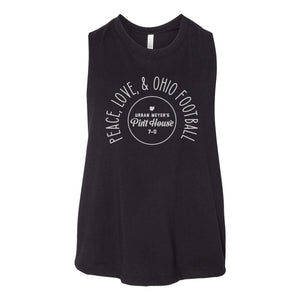 UM Pint House - Peace Love and Football Crop Tank