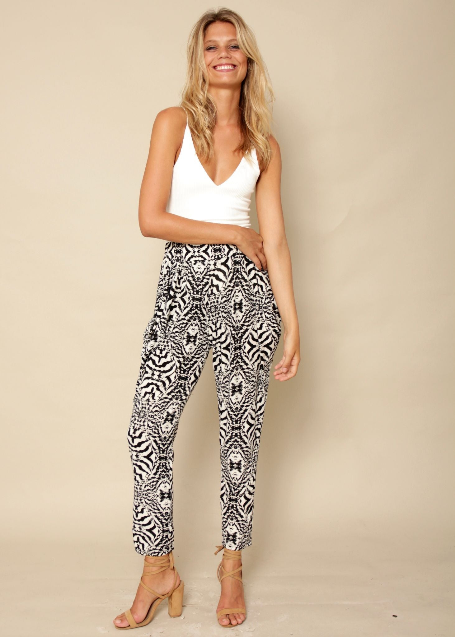 Little Sway Pants - Cream/Black