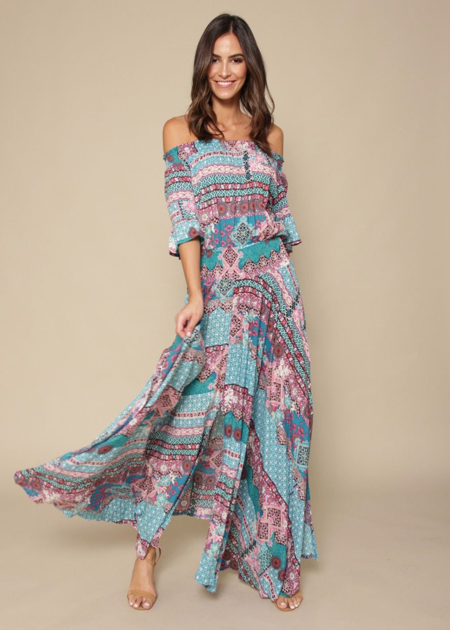 Boho Leah Maxi Dress - Wild Reef