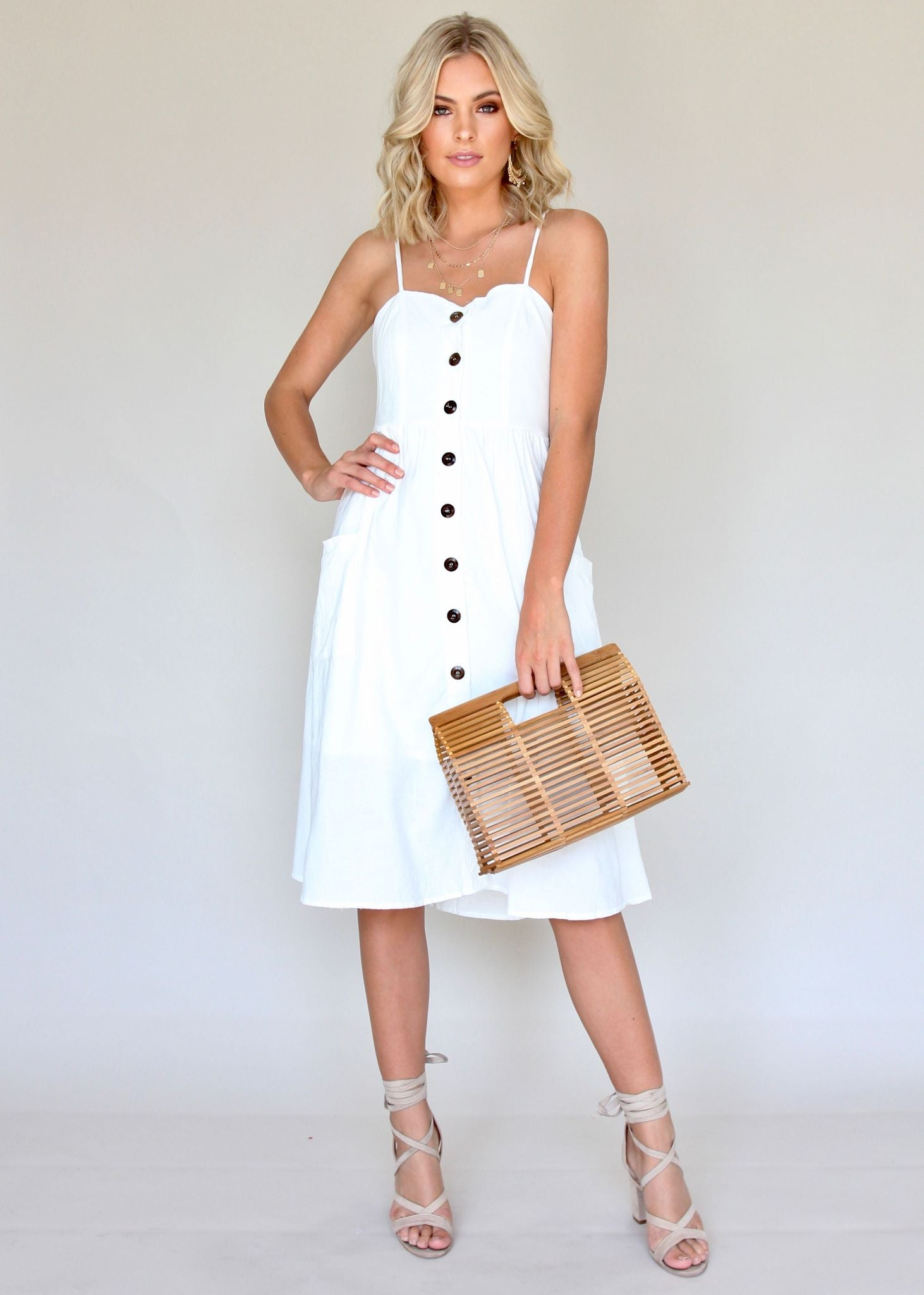 Utopia Midi Dress - White