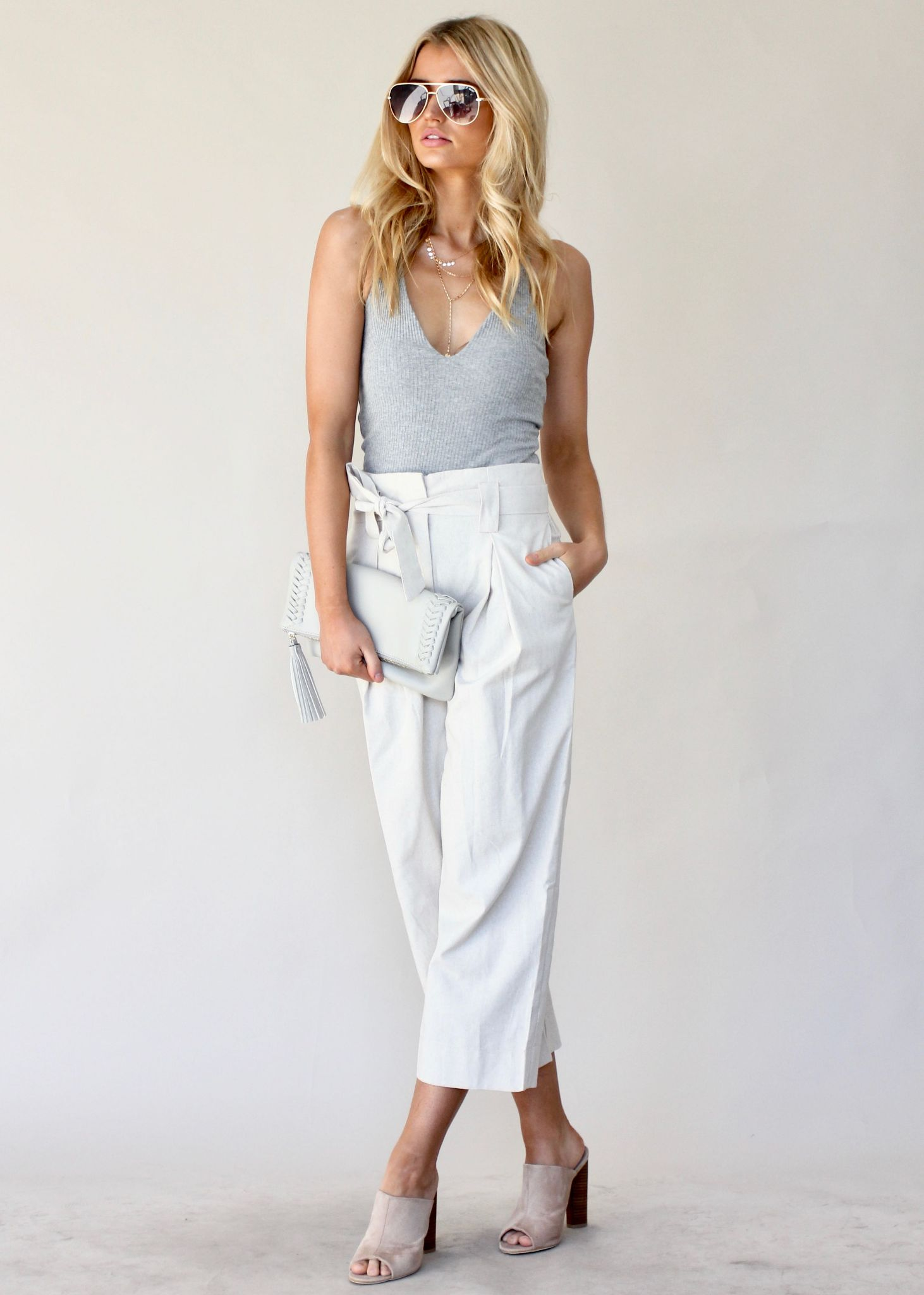 Lady of Manor Pants - Natural