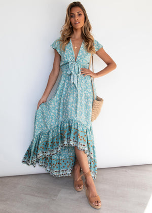 Palm Bay Midi Dress - Mint Zada