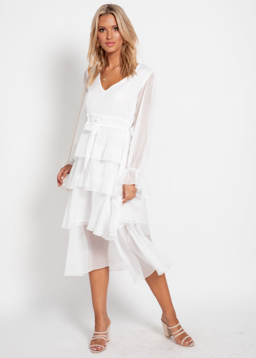 Elysium Midi Dress - White