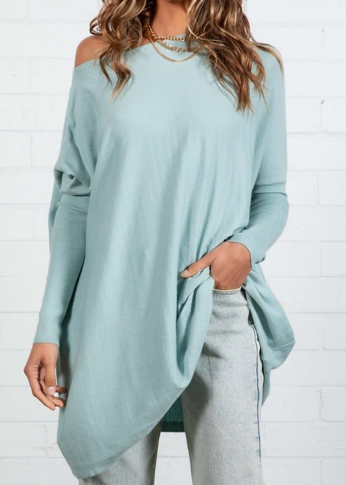 Unwind Lightweight Sweater - Powder Blue