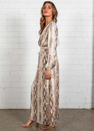 Midnight City Maxi Dress - Snake