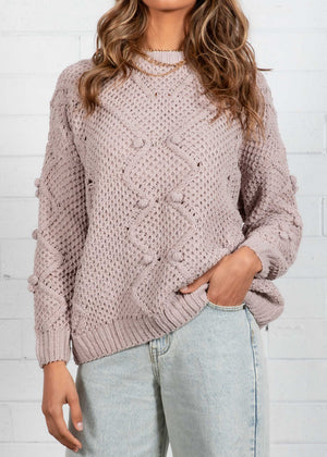 Winter Nights Sweater - Mushroom