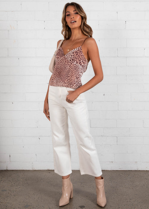 Free Speech Cami - Blush Leopard