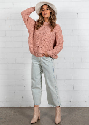 Winter Nights Sweater - Peach