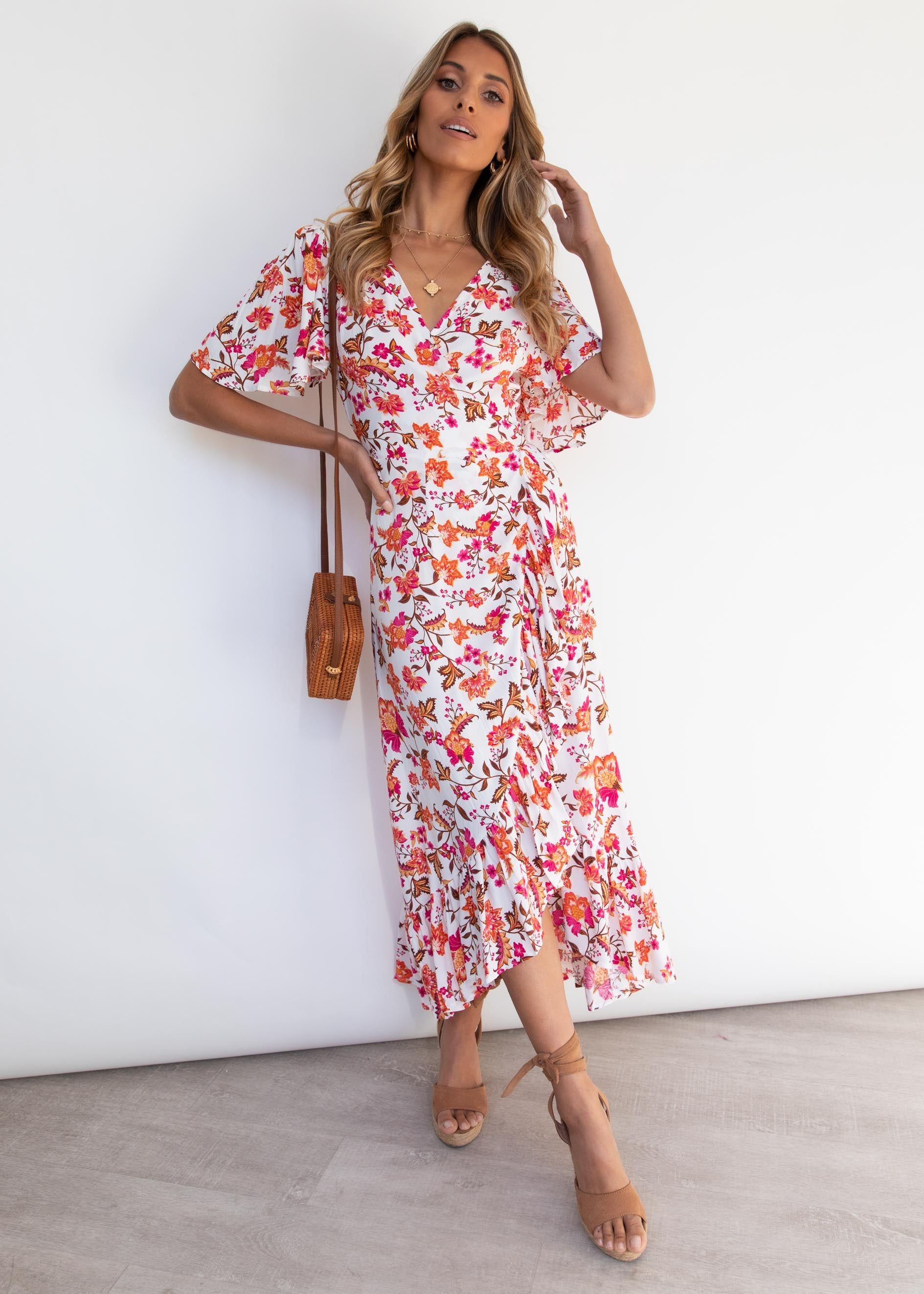 Wanderlust Wrap Midi Dress - Eleanor