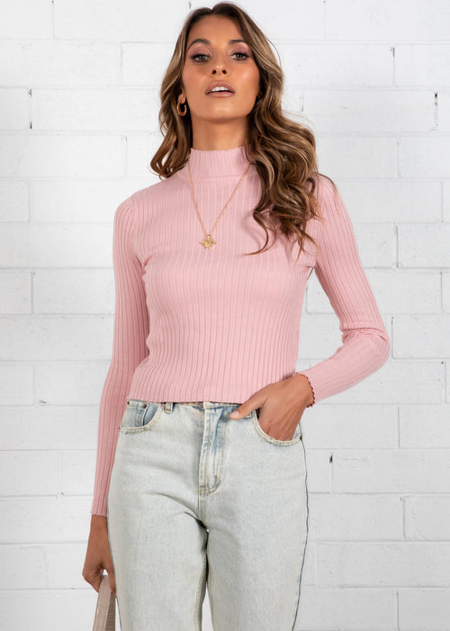Wild Love Knit Top - Baby Pink