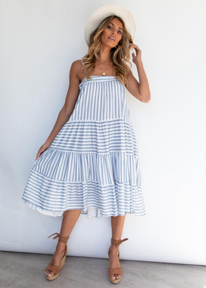 Zuma Dress - Blue Stripe