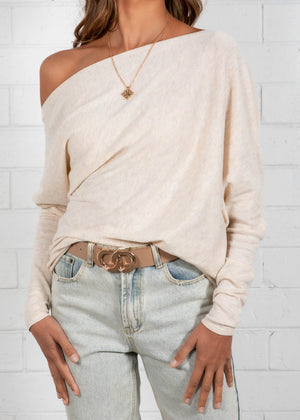 Dione Knit Top - Oatmeal
