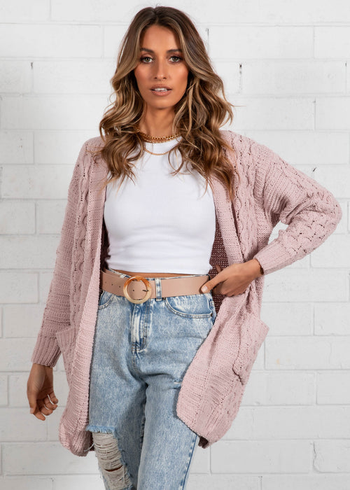 Palin Cable Cardi - Blush