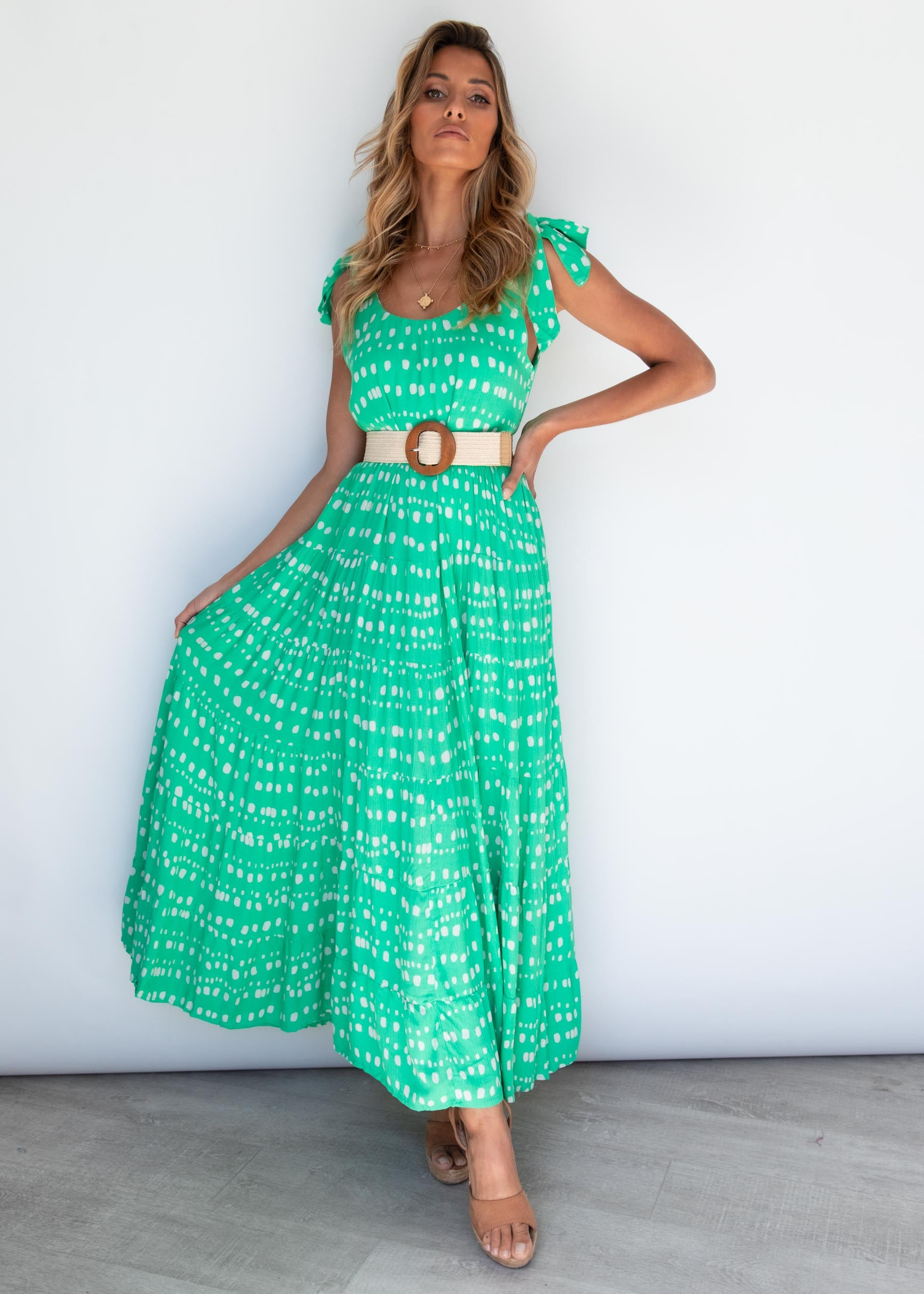 Pick and Choose Maxi Dress - Cali Green