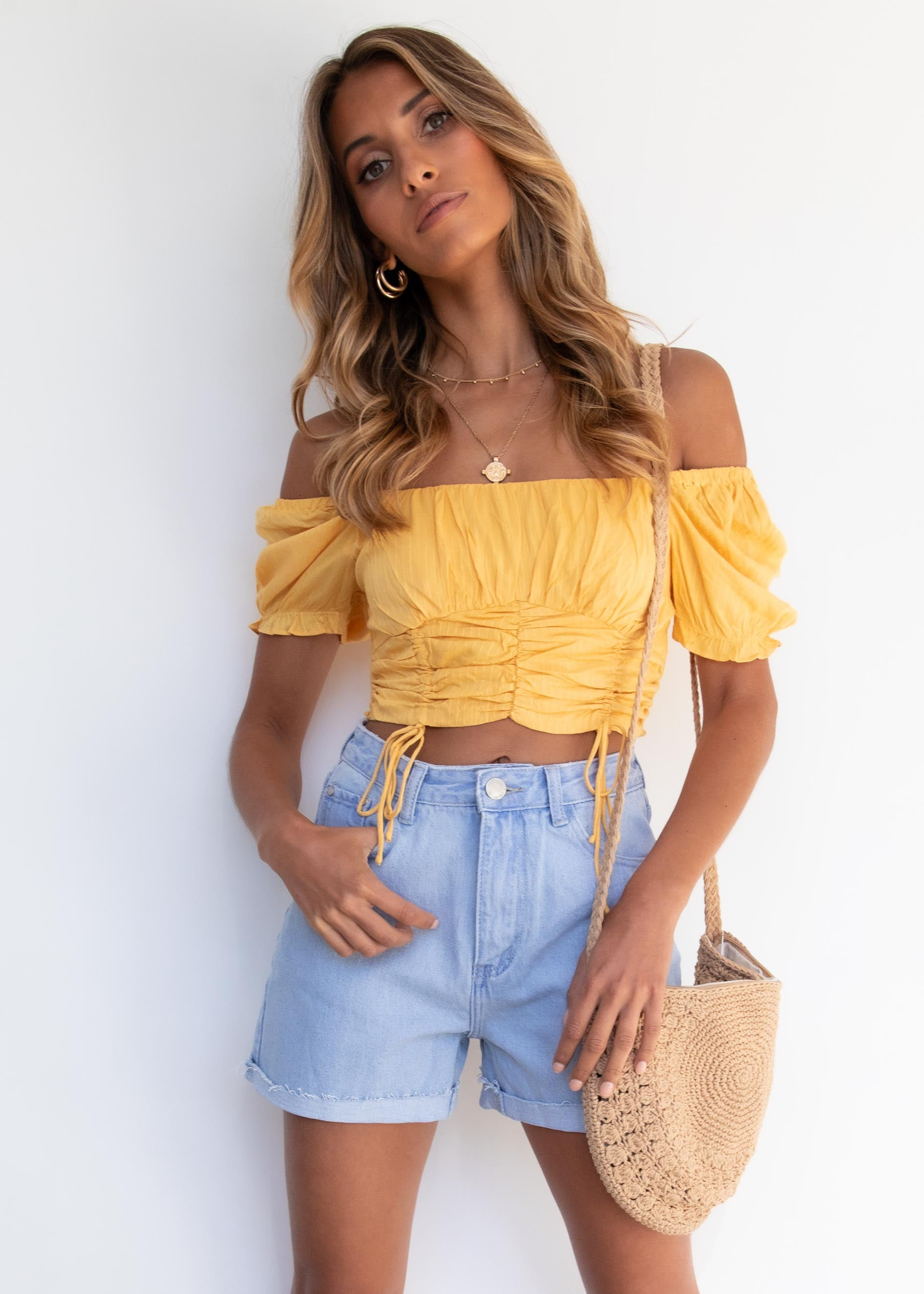 Vita Crop Blouse - Sunflower