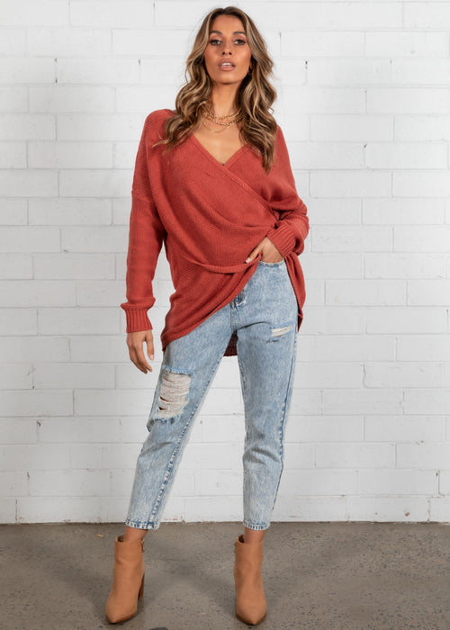 Sweet Caroline Sweater - Rust