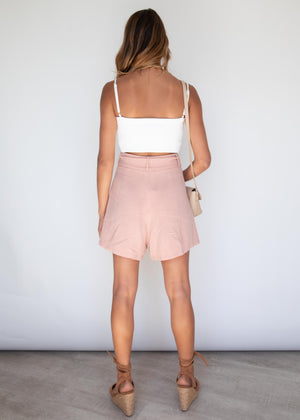 Borrowed Hearts Shorts - Blush