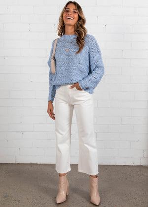Time Flies Sweater - Powder Blue