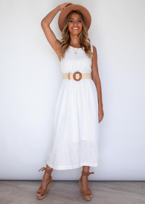 Vanessa Maxi Dress - Off White