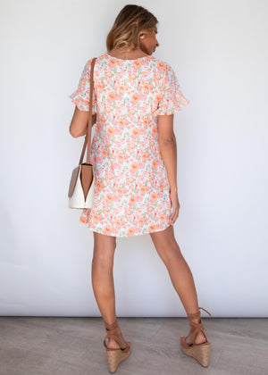 Brave Obsession Dress - Peach Floral