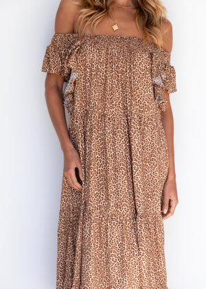 Tazania Midi Dress - Leopard