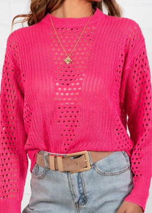 Together Again Sweater - Magenta