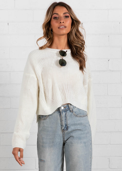 Soul Searcher Sweater - Cream