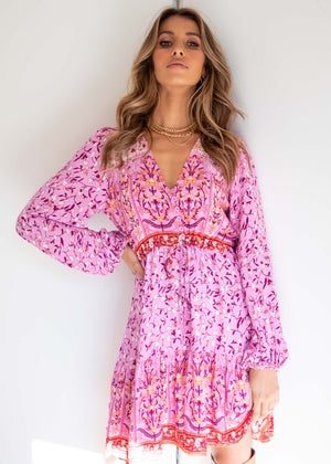 My Embrace Dress - Lilac Floral