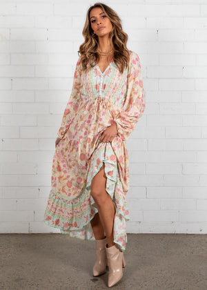 Jewel Mountain Maxi Dress - Pastel Dream