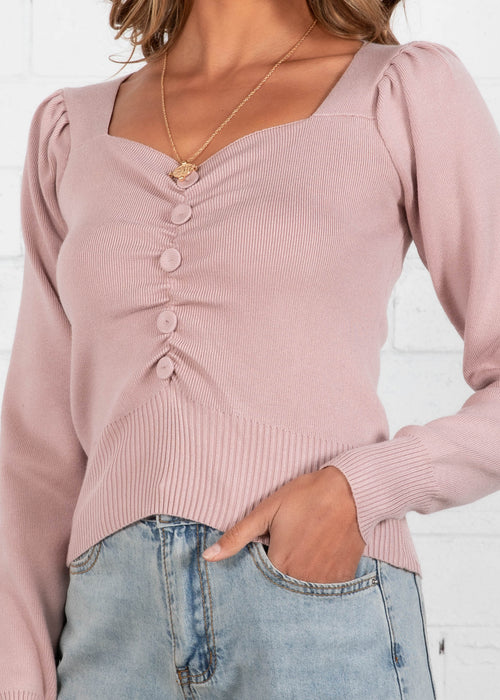 Eya Knit Top - Blush