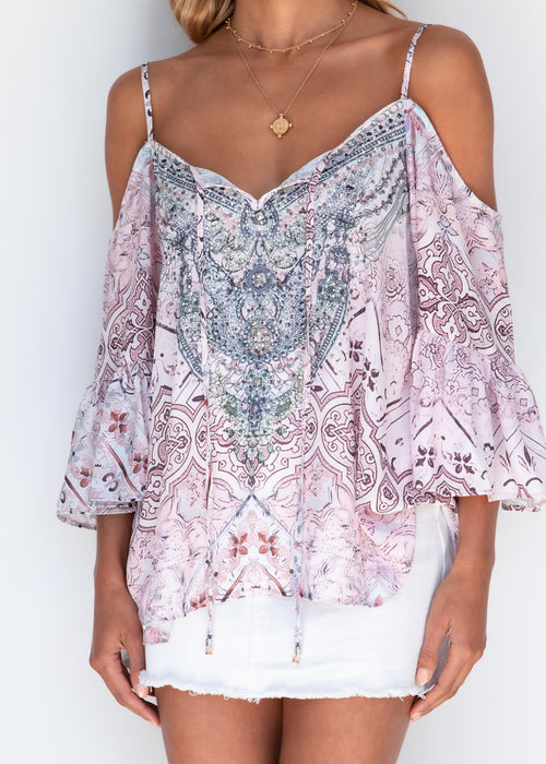 A New Story Blouse - Blush Romance