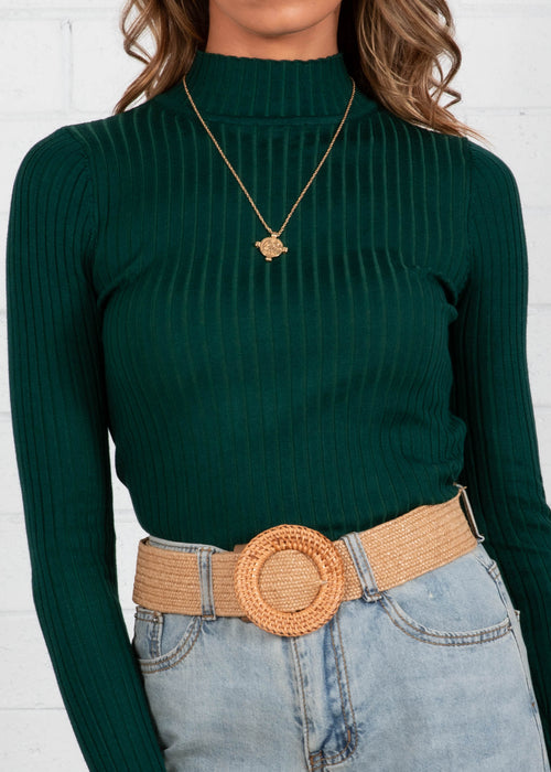 Wild Love Knit Top - Emerald