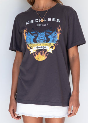 Reckless Tee - Charcoal