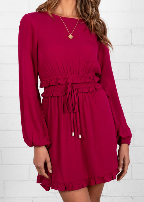 Sugar Valley Dress - Merlot