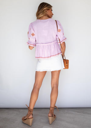 Summer Days Blouse - Lilac
